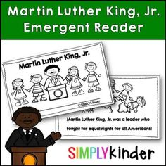 Martin Luther King Jr. Free Emergent Reader included everything your kids need to know from #SimplyKinder!