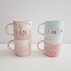 23 Bridal Shower Hostess Gifts That Are Budget-Friendly - WeddingWire Shower Hostess Gifts, Marble Mugs, Name Mugs, Personalized Mugs, Custom Mugs, Gifts For Friends, Kids Gifts, Boyfriend Gifts, Coffee Cups