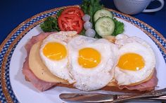"""The original """"Egg McMuffin""""- Uitsmijter - Dutch recipes - Holland.com or just toast with a slice of Edam Cheese is great as well!"""