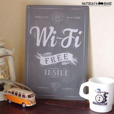 サインボード Wi-Fi FREE INSIDE [SBWIFI01]