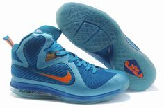 pretty nice 33030 57466 Nike Air Max LeBron James 9 Royal Blue Orange Basketball shoes Lebron 9  Shoes,