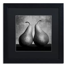 "Trademark Art ""Peras Enamoradas"" by Moises Levy Framed Photographic Print Size: 16"" H x 16"" W x 0.5"" D"