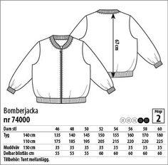Bomberjacka - 74000 - Stoff & Stil