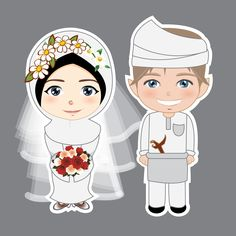 Wedding couple cartoon muslim Ideas for 2020 Emoji, Wedding Couple Cartoon, Muslimah Wedding, Indonesian Wedding, Cute Muslim Couples, Islamic Cartoon, Hijab Cartoon, Cute Couple Art, Wedding Illustration
