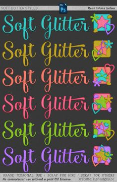 Free download ~ soft glitter photoshop layer styles ~ courtesy of hgdesigns.co