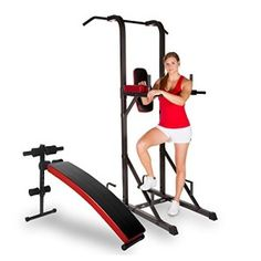 XMark Core Package with Power Tower and Curved Ab Bench   New And Used Sports Equipment For You !
