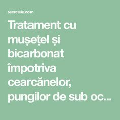 Tratament cu mușețel și bicarbonat împotriva cearcănelor, pungilor de sub ochi şi pleoapelor umflate. REȚETA! - Secretele.com Good To Know, Beauty Hacks, Health Fitness, Hair Beauty, Wellness, Exercise, Plants, Travel, Medicine
