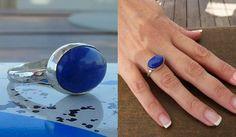 Lapis ring Lapis lazuli ring Gemstone ring sterling by anakim, $92.00  - It's Tardis Blue