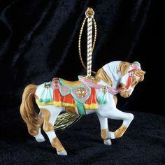 Lenox China Carousel PINTO HORSE Christmas Tree Ornament 1989 He's Western #Ornament
