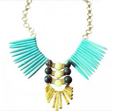 Turquoise Wings gold brass by neontribe on Etsy, $200.00