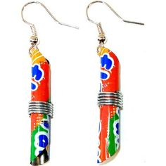 Tin Can Tube Earrings Orange – globalcrafters