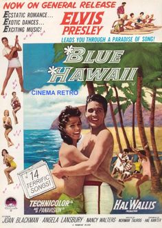 Iposters Elvis Blue Hawaii Movie Print Magnetic Memo Board Silver Framed - 41 X 31 Cms (approx 16 X 12 Inches) Elvis Presley Hawaii, Elvis Presley Movies, Pop Posters, Movie Posters, Jailhouse Rock, Exotic Dance, Angela Lansbury, Movie Dates, Blue Hawaii