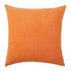 GULLKLOCKA, Cushion cover, orange