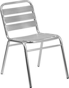 SLATTED STACKING CHAIRS VINTAGE BLUE METAL RESTAURANT CHAIR SCHOOL CHAIRS