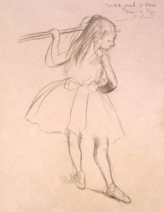 Girl Dancer at the Barre, by Degas http://www.fitzwilliamprints.com/image/703074/degas-edgar-girl-dancer-at-the-barre-by-degas