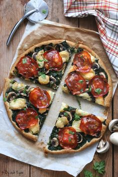 Plats 10 - By acb 4 you Low Carb Recipes, Vegetarian Recipes, Healthy Recipes, Pizza Tarts, Yummy World, Batch Cooking, Creative Food, No Cook Meals, Street Food