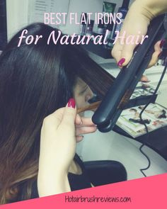 Natural hair types require special care and attention when styling with heat. Our guide includes the important considerations for natural hair and the best flat iron options. Wavy Hairstyles Tutorial, Cool Hairstyles, Curls With Straightener, Straightener Holder, Flat Iron Waves, Chi Hair Products, Beauty Products, Natural Hair Types, Hair Straightening Iron