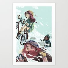 Bikes Not Bombs Art Print by Logan  Faerber - $16.00