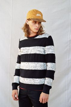 CPO Textured Stripe Sweater #urbanoutfitters