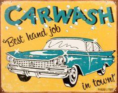 Carwash Tin Sign