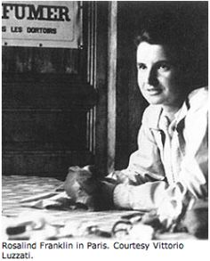 Rosalind Franklin who discovered the DNA double helix before Watson & Crick