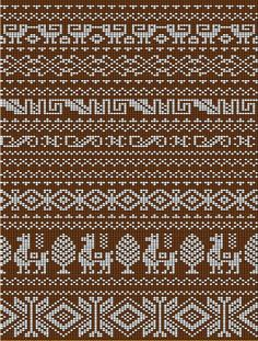 great ideas for fair isle Tapestry Crochet Patterns, Fair Isle Knitting Patterns, Fair Isle Pattern, Knitting Charts, Knitting Stitches, Cross Stitch Borders, Cross Stitch Patterns, Manta Animal, Fair Isle Chart