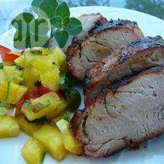Lombo de porco com salada de abacaxi @ allrecipes.com.br
