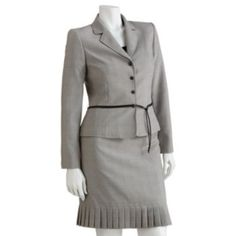 STUDIO Tahari-Levine Co. Plaid Suit Jacket & Skirt Set - Women's