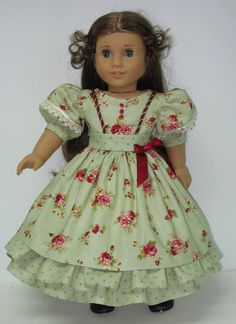 Victorian Sage Party Dress for Marie Grace by karenstinytreasures, $29.00