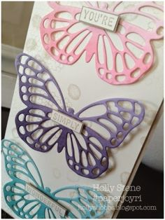 Holly's Hobbies - Stamping, Baking & Photo Making Stampin' Up! Butterfly Basics Ombré Butterfly Framelits Sale-a-Bration 2015 Simply Wonderful Best Day Ever