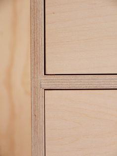 Leonard sideboard in pale grey Formica / &New - Modern British Furniture Furniture Legs, Plywood Furniture, Furniture Design, Barbie Furniture, Garden Furniture, Kitchen Furniture, Furniture Movers, Furniture Stores, Bedroom Furniture