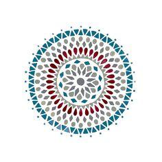 Blue and Red Mandala Mandala Azul, Mandala Design, Islamic Art Pattern, Pattern Art, Watercolor Mandala, Minneapolis, Butterfly Coloring Page, Mandala Art Lesson, Indian Folk Art