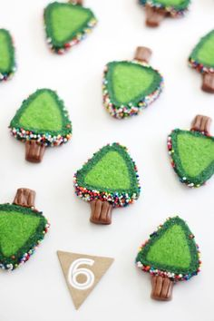 @sprinklebakes: Sprinkle Christmas Tree Cookies | Christmas Cookie Recipe