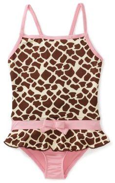 Pink Platinum Girls 2-6X Printed Giraffe Swimsuit $19.99