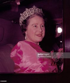 Queen Elizabeth, The Queen Mother, leaving the Victoria League Gala concert at the Royal Festival Hall in London on 25th October 1960. (Photo by Ray Bellisario/Popperfoto/Getty Images)
