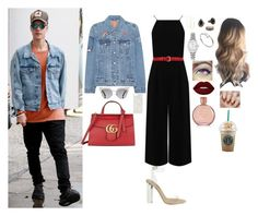 """""""Day W/ Justin"""" by valenlss ❤ liked on Polyvore featuring Warehouse, Gucci, Levi's, adidas, Fendi, Native Union, Lana, MANGO, Rolex and Cartier"""