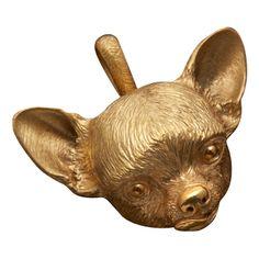 Chihuahua Dog Head Pendant---WANT!!!