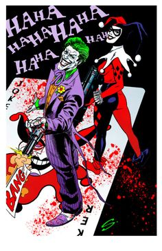 Joker and Harley by Steve Scott