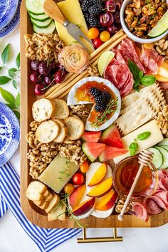 It's not a party without a charcuterie board! 🍉🧀🍅My absolute favorite SUMMER-Themed grazing charcuterie board with seasonal faves (and the… Charcuterie Recipes, Charcuterie And Cheese Board, Cheese Boards, Cheese Platters, Food Platters, Plateau Charcuterie, California Walnuts, Brunch, Walnut Recipes