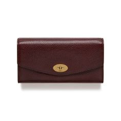 Shop the Darley Wallet in Oxblood Natural Grain Leather at Mulberry.com. The postman's lock is an iconic Mulberry signature, and this accessories group combines the popular hardware with practical space inside, featuring various pockets and compartments.