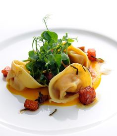 For this sumptuous pumpkin pasta dish from Stephen Crane, pumpkin, sage and chestnuts combine in a rich and buttery autumnal tortellini.