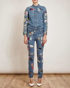 DIY Patched jeans