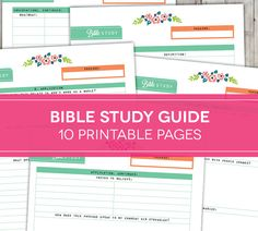 BIBLE STUDY GUIDE PRINTABLE   This printable is designed as a study guide through any Bible passage to help you study the Word more deeply.