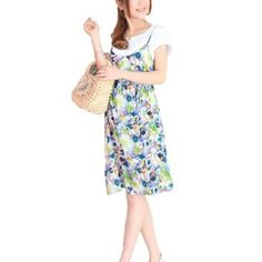 Allegra K Motherhood Pregnancy Rhinestone Decor Scoop Neck Two Pieces Set Dress Yellow M Allegra K. $16.00