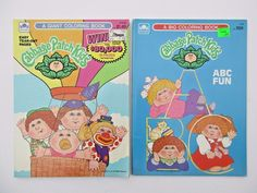Vintage 1980s Cabbage Patch Kids Coloring Book Lot Golden Unused CabbagePatchKids ColoringBooks