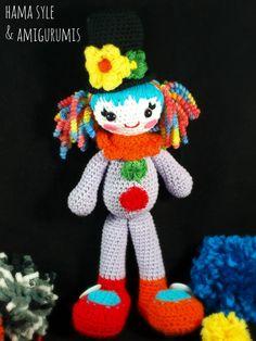 Die 109 Besten Bilder Von Circus Clown Usw Crochet Dolls