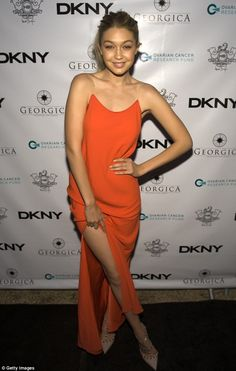 Showing some leg: The Sports Illustrated Swimsuit model showed off her fabulous legs by ga...