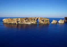 part of Sfaktiria island (the whole island is standing as a natural guard on the sea entrance of the city of Pylos, Messinia), Greece
