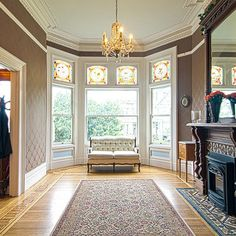 Folk victorian interiors on pinterest for Folk victorian interior