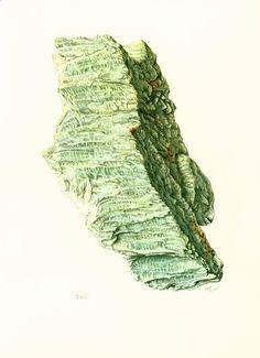 1970 Illustration Cristaux de Talc. Planche Originale Pierres Mineraux Roches Cristaux. Geologie. Decoration murale. de la boutique sofrenchvintage sur Etsy